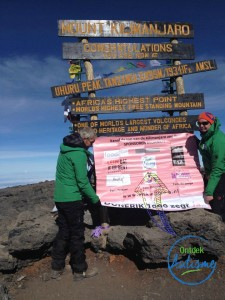 Erik op de Kilimanjaro