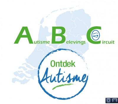 autisme belevings circuit logo icm ontdek autisme met een lichtblauw nederland