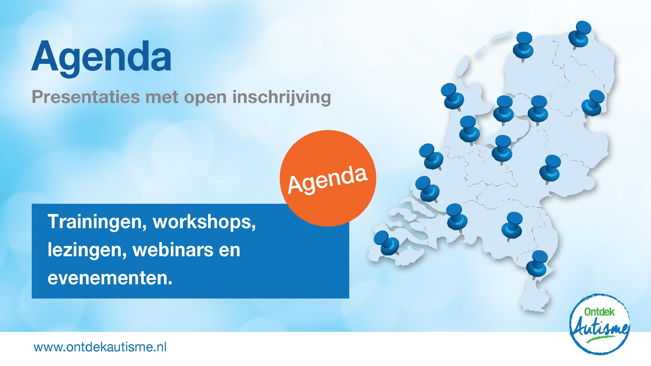 Agenda: Actuele presentaties met mogelijkheid tot inschrijving voor individuen